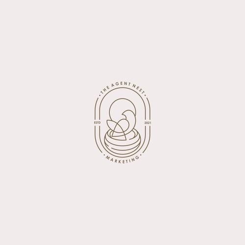 bird nest line logo