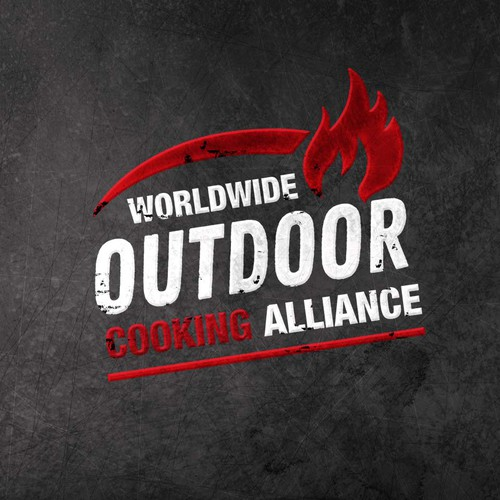 Eye catching logo for outdoor cooking enthusiasts