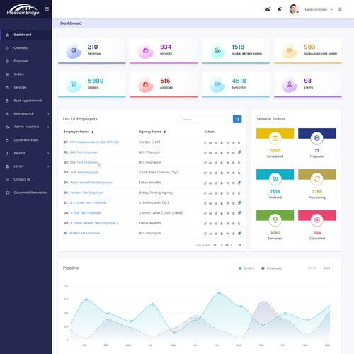Clean App Dashboard