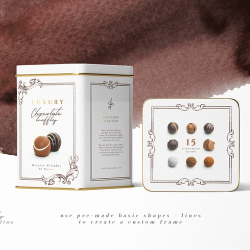 Chocolate Pralines Package Design