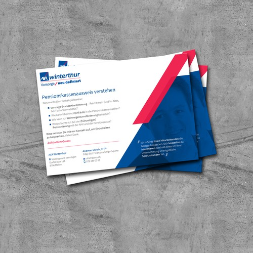 Designe eine Einladungskarte für ein Vorsorge-Coaching