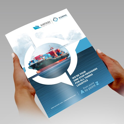 Pamphlet design for International Logistics Company