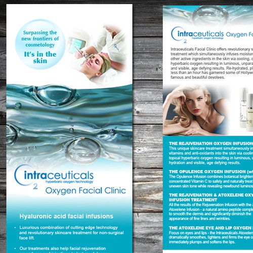 Help Intraceuticals Oxygen Facial Clinic creative flyer desing