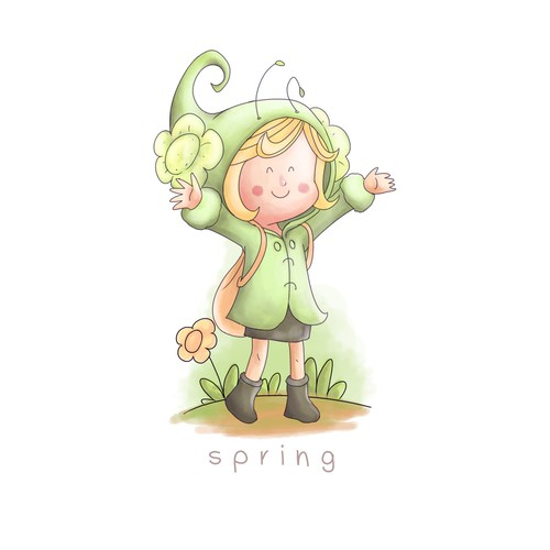 Character design for spring