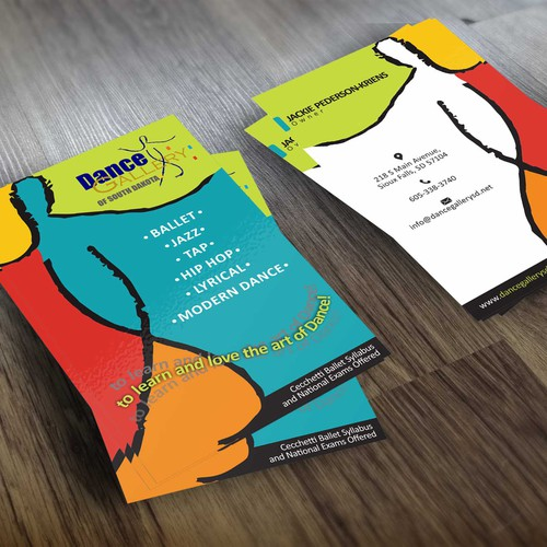 Dance Gallery business card