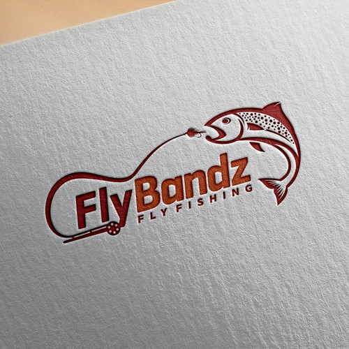 Sleek logo for FlyBandz Fishing