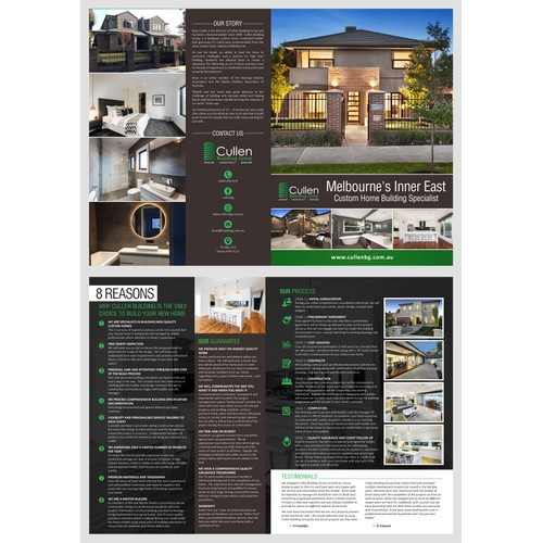 brochure design concept for cullen building group