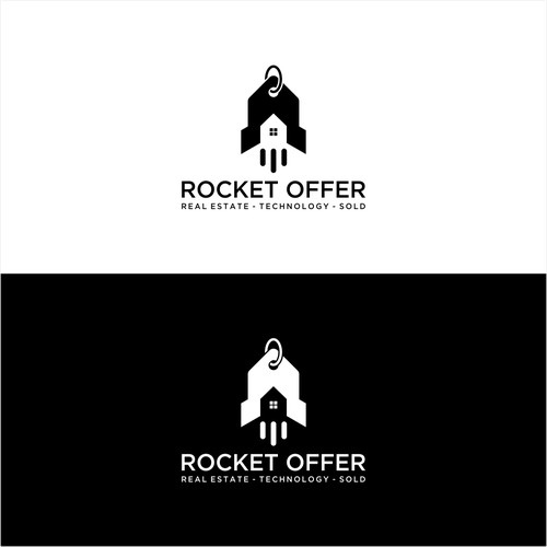 Rocket + price tag + Home