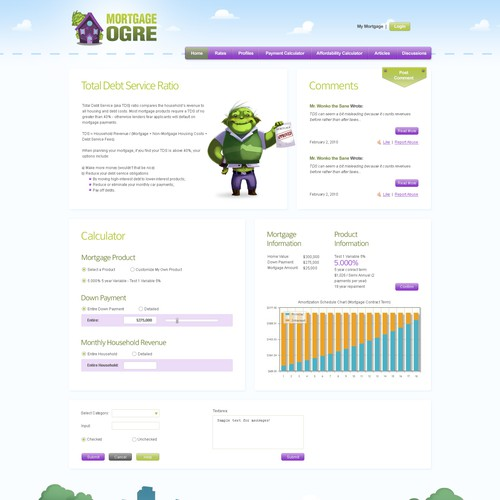 Mortgage Ogre Site - Stunning Illustrations