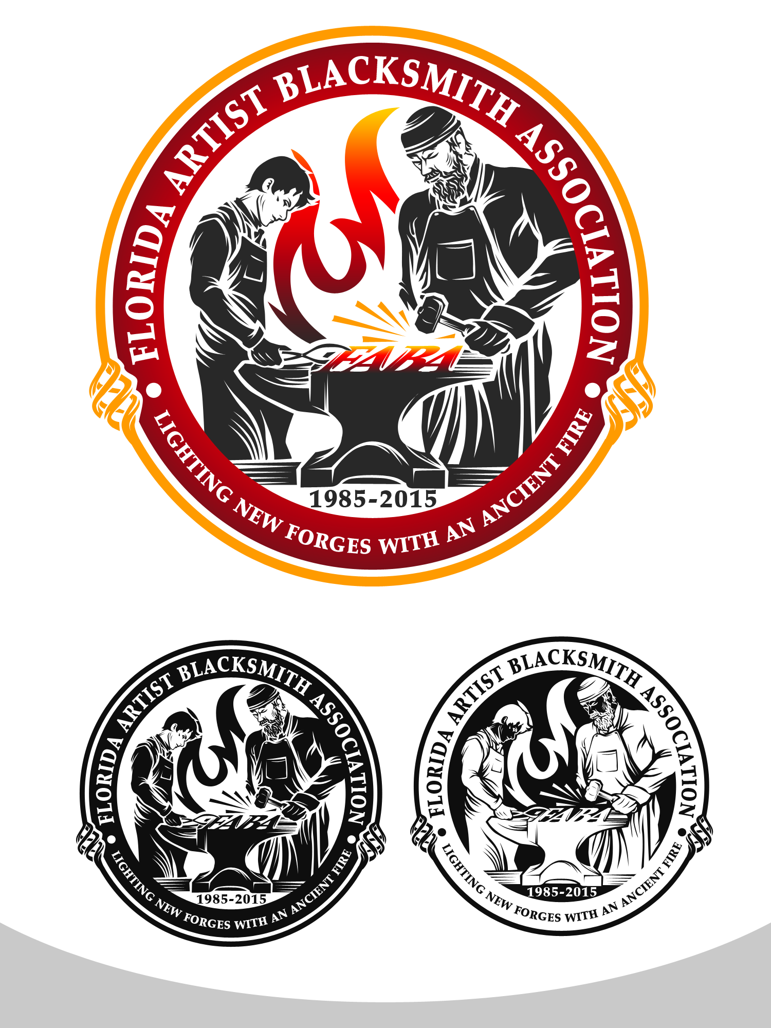 Create a logo for the 2015 FABA Annual Conference, a major teaching EVENT for blacksmiths.