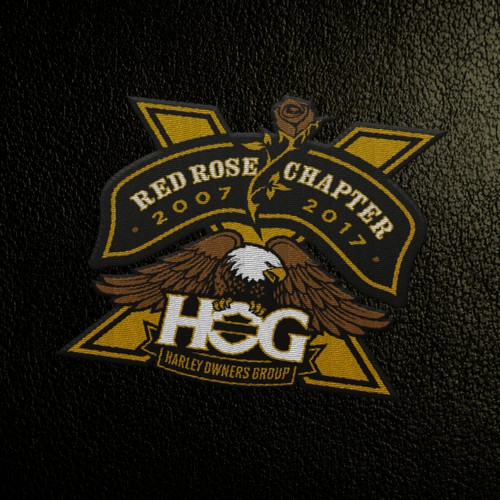 10th anniverary logo for Official Harley Chapter