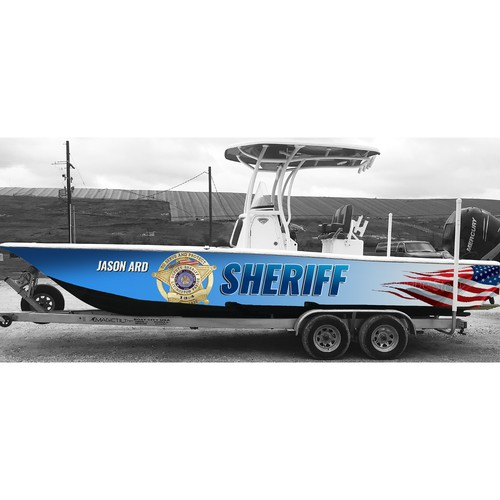 wrap for sheriff boat