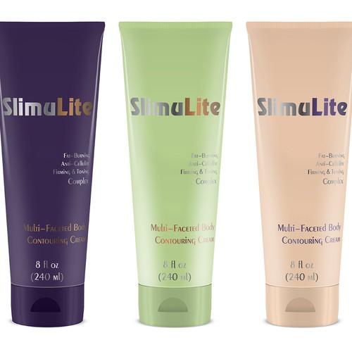 Slimulite cream package design