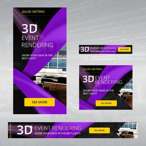 Banner ads design for 3D Rendering Studio