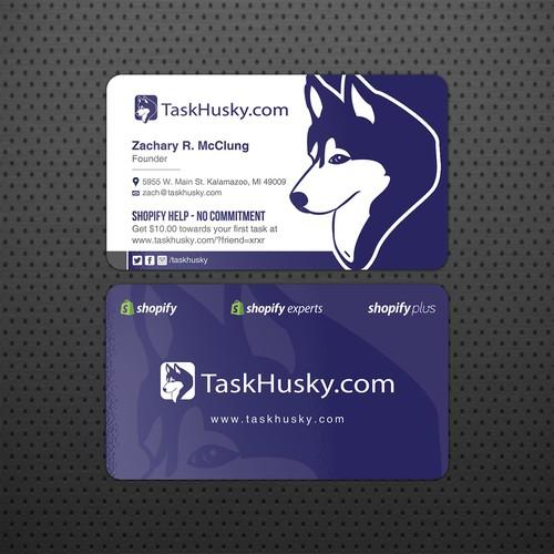 Business Card Design For TaskHusky.com