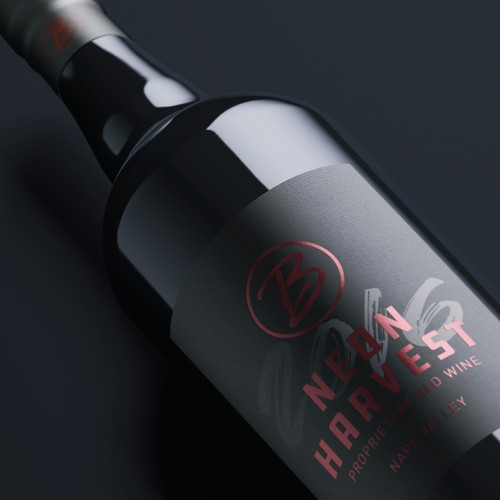 wine label • contest winner design