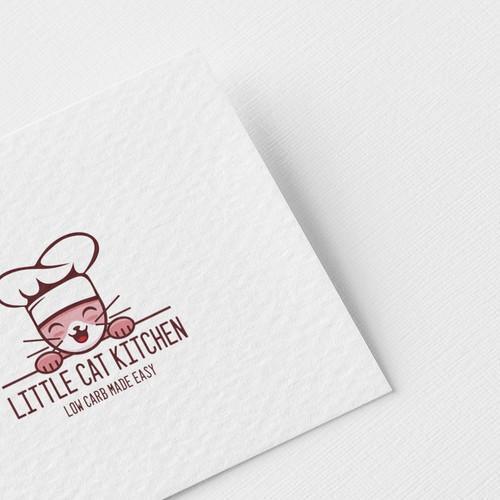 Cat chef logo