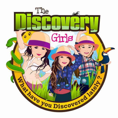 Official Logo & Website Design for 'The Discovery Girls' (now 'Wild Adventure Girls') Show