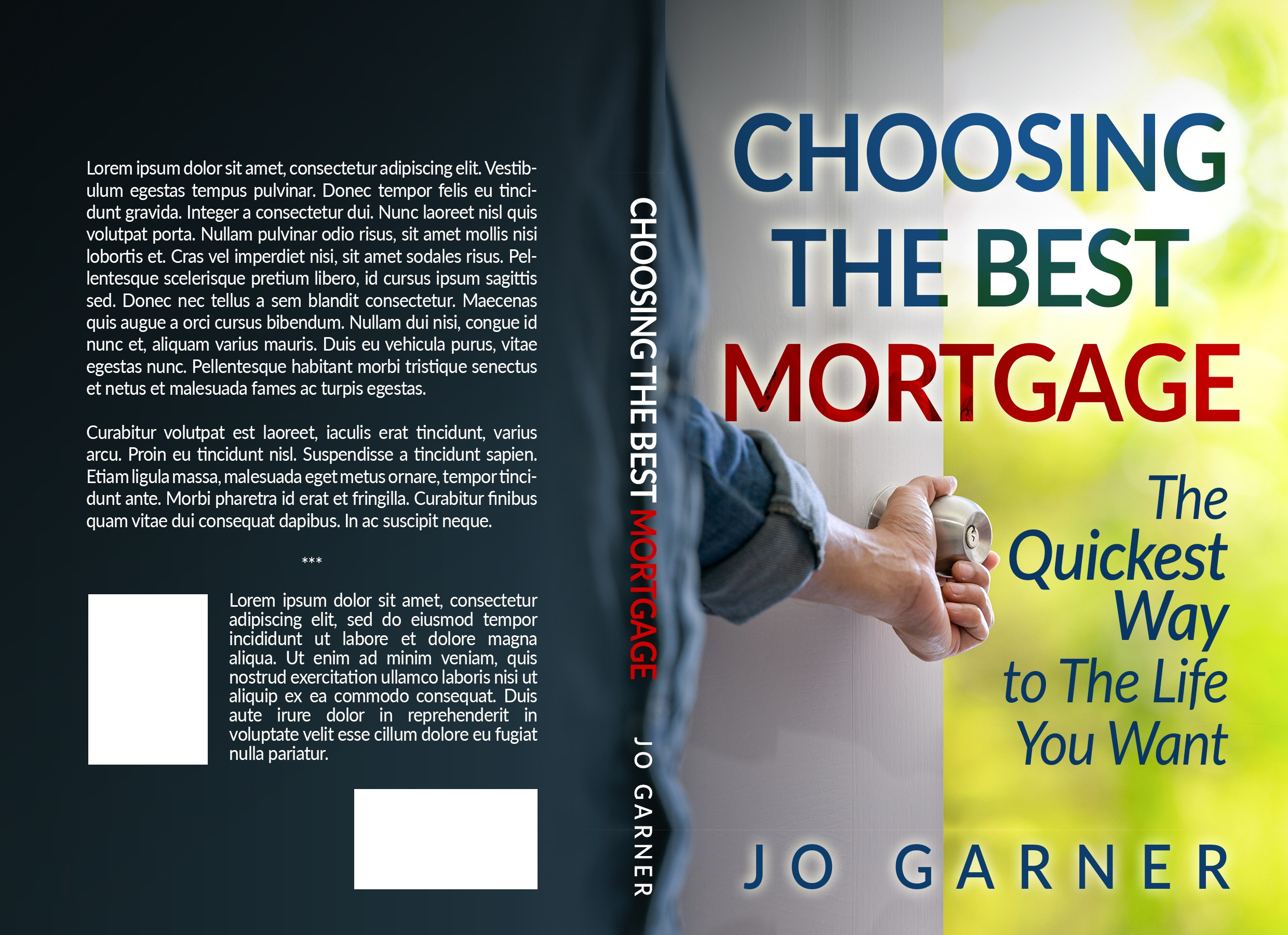 Full cover for a mortgage guide book for home buyers