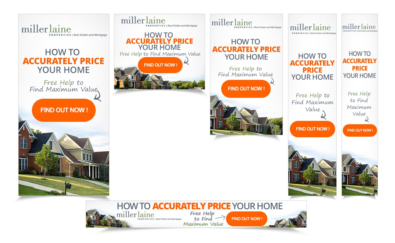 Easy Project.  Set of Banner Ads for Real Estate Company.  Professional Designer Wins.