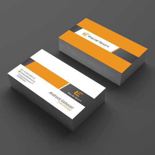 Equal Sport business card design