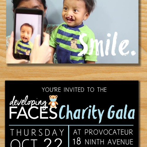 Developing Faces Gala Invitations