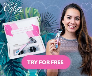Retargeting ads for women shaving subscription box