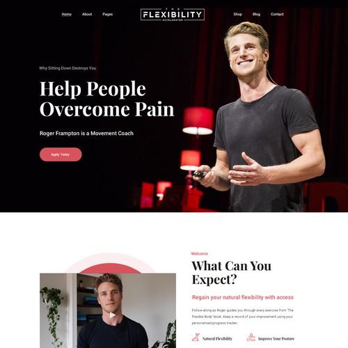 Online flexibility course web design