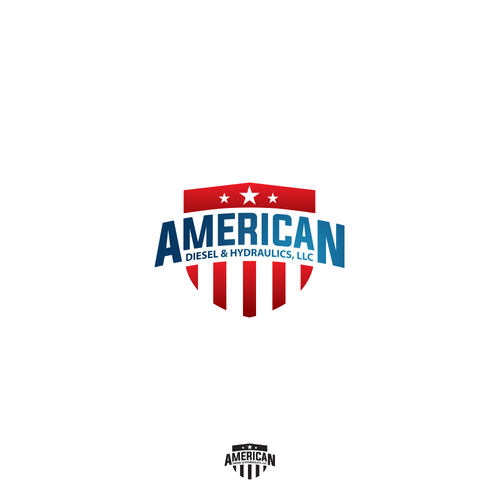 Logo concept for American diesel & hydraulics workshop