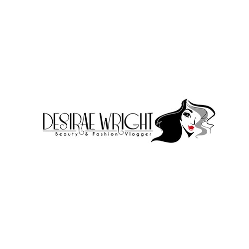 logo for Desirae Wright Beauty Vlogger
