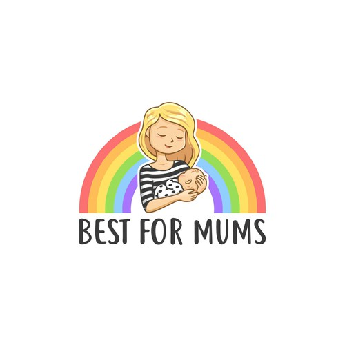 Colourful and fun logo for a parenting advice website