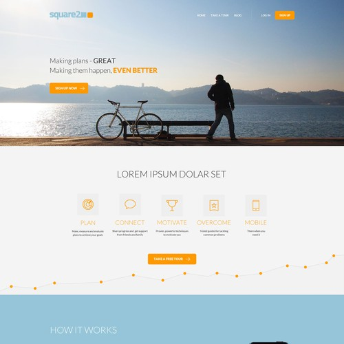 Simple Home Page Design for goal tracking web app - Clear direction given