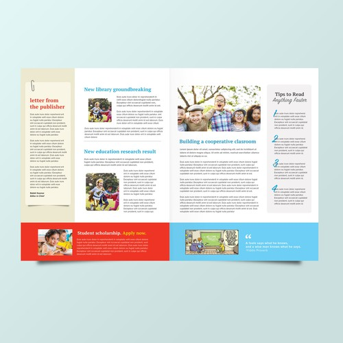 Educational Newsletter Design