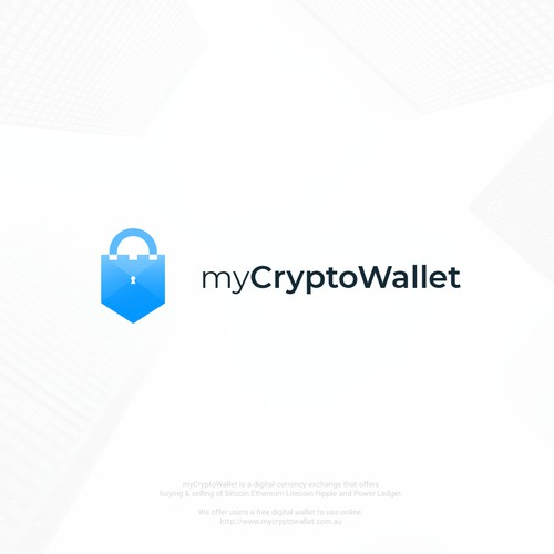 Logo concept for myCryptoWallet