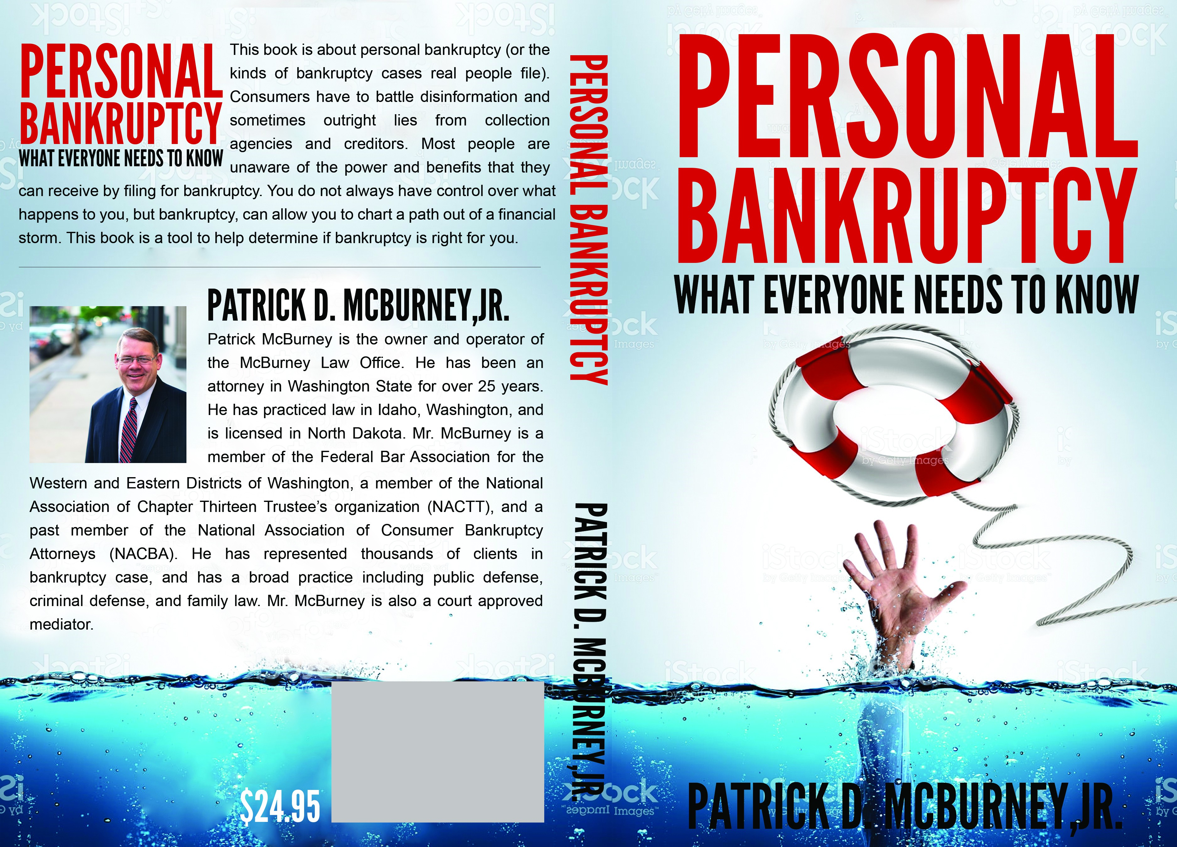 Help me design a book cover for my book on personal bankruptcy