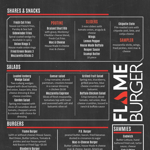 Modern, clean menu