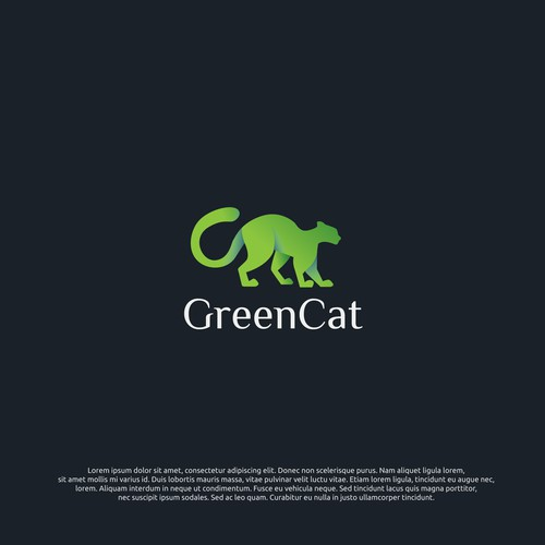 LOGO CONCEPT FOR GREEN CAT