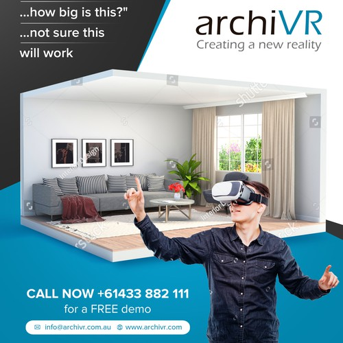 Simple and elegant flyer design for ArchiVR