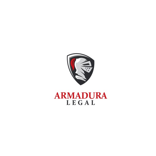 silver knight concept logo for armadura legal