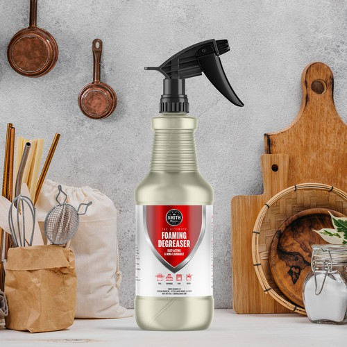 Foaming Degreaser label for a spray bottle