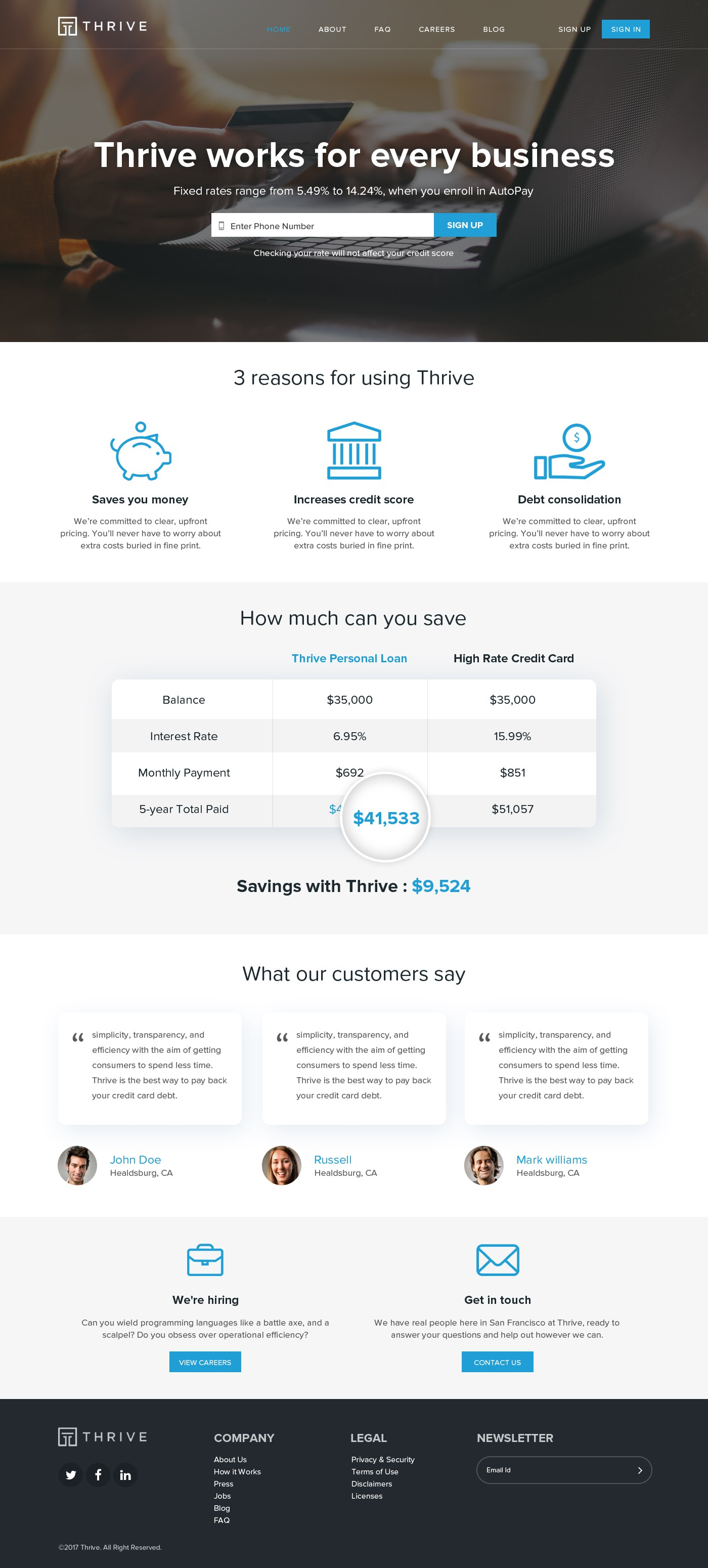 Design a sleek landing page for a next generation bank that millions will use