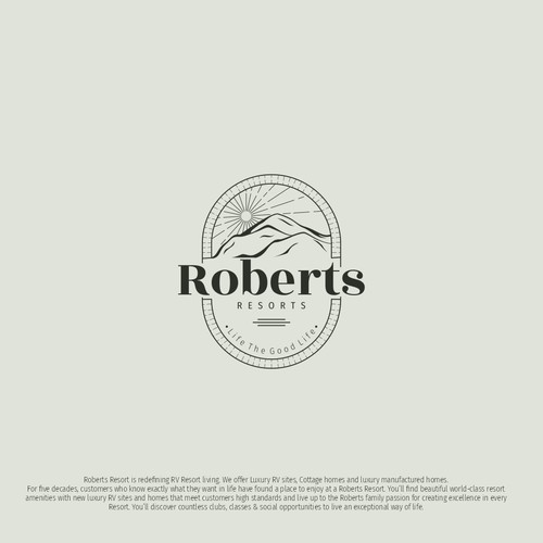 Logo concept for Roberts Resorts