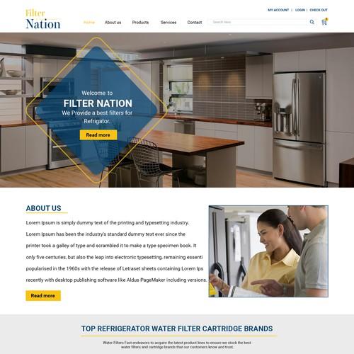 water filter webpage design