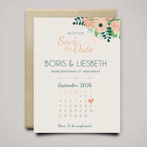 Wedding invitation & save the date