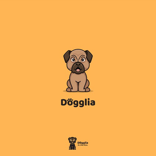 Bold logo for Dogglia, an online community for dogs