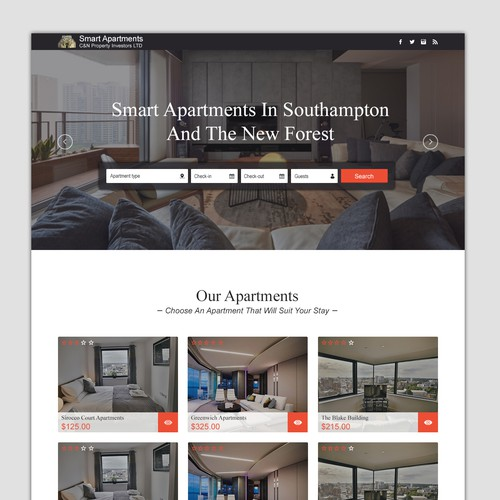 Profesional website for Serviced Accommodation, hotel alternatives
