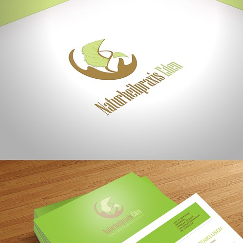 Innovative, modern and eye catching logo and business card for a natural healing practice.