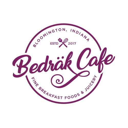 A Badge Logo of Bedrak Cafe