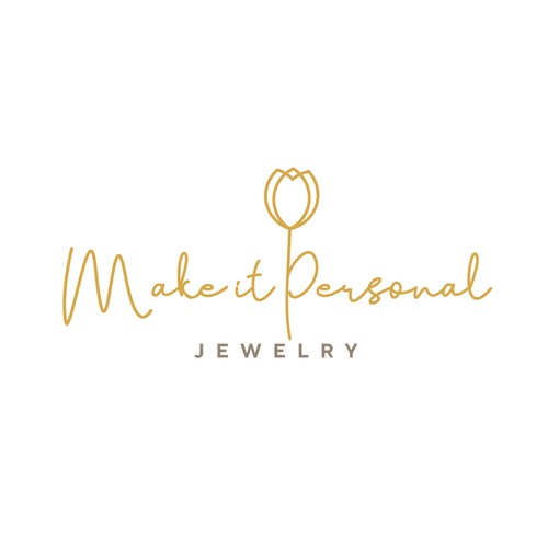 Simple and elegant logo design for a personalized jewelry online store