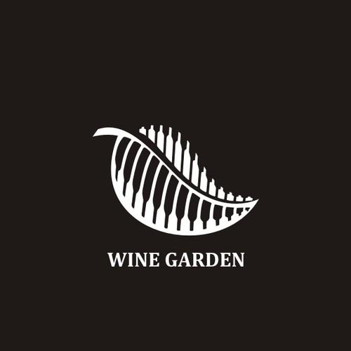 logo concept for wine garden